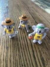 Willy the Koala Olympic Games Mascot - 1984 - Lot of 3 Figurines