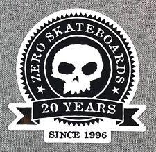 ZERO 20 Year Anniversary Skateboard Stciker 3.25in si