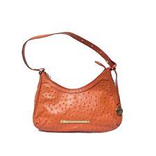 Brahmin Normandy Braxton Shoulder Handbag Ostrich Prawn Orange