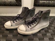 Converse x Varvatos Double Zip Grey Fade Leather High Top. Size 11