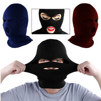 Ski Hat 3 Hole Full Face Neck Beanie Balaclava Cycling Motorcycle Winter Thermal