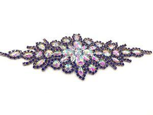 Stunning Motif hand Sewing Iron on Bridal Dress belt Clothes Appliques Belt