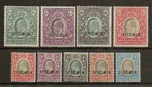 NYASALAND 1903-04 KEVII SPECIMEN TO £1 SG59s/66s MINT