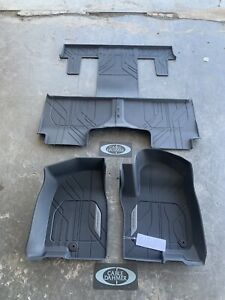 2021 GM Accessory Chevrolet Tahoe 1st 2nd 3rd Row All Weather Floor Liners Blk