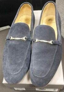 Mens H By Hudson Navarre Suede Slip On Smart Office Work Loafers Shoes UK 10