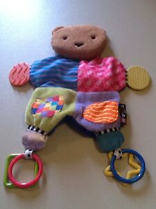 """Kids Preferred 14""""Amazing Baby Blanket Teether Bear Colorful Plush Activity Toy"""