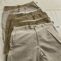 "NWT *LOT OF 6* Old Navy 40 x 10"" Khaki 100% Cotton Ultimate Slim Flex Shorts"
