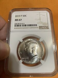 2019-P Clad Half Dollar graded by NGC MS67, not bad!