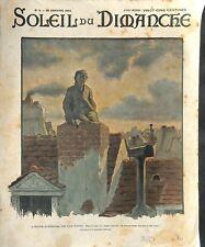 Petit ramoneur ramonage cheminée toits de Paris de André Névil ILLUSTRATION 1903
