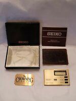 Vintage Seiko Quartz Alarm Chronograph Travel Alarm Clock, NIB, New Battery