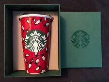 2016 Starbucks Travel Coffee Tea Mug Christmas Lights Mermaid 12oz. Traveler NIB