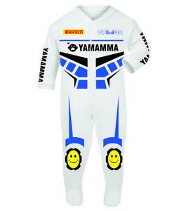 Yamamma White Baby Biker Race Sleep Suits