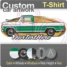 Custom T-shirt 1967 68 69 F-100 250 long bed Pickup Truck not affiliated w ford