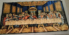 Last Supper Tapestry Rug Mat Wallhanging Wall Hanging 38x19 Religious Jesus