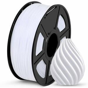 SUNLU 3D Printer Filament, SPLA Filament 1.75mm, 1KG Spool(2.2lbs), White