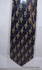 Treble Clefs on Purple Tie