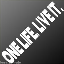 Large ONE LIFE. LIVE IT.  Decal, Sticker, 4X4,  Land Rover, Funny, Camel Trophy,