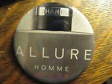 Chanel Allure Homme Sport Coco Cologne Logo Advertisement Lipstick Pocket Mirror