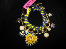Betsey Johnson HEART PINUP AND CHARMS BRACELET