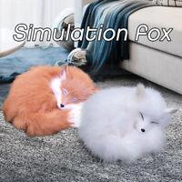 Realistic Simulation Fox Animals Model Decor Toy Stuffed Fluffy Doll Kids Gift