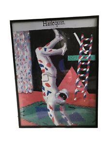 Harlequin, David Hockney print in 11 x 14 framed By Nielsen.