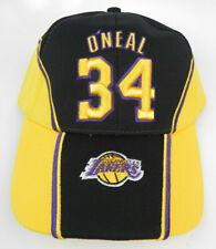 LOS ANGELES LAKERS SHAQUILLE O'NEAL SHAQ #34 NBA BLACK UNIFORM VTG CAP HAT NEW!