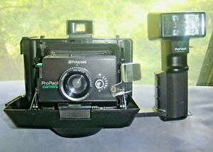 vtg Polaroid PROPACK pro pack instant CAMERA w/ FLASH no strap untested