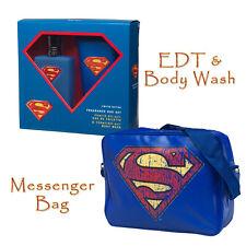 Superman Gift Set - EDT & Body Wash & Messenger Bag - Offical DC Laptop Mens