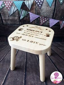 Personalised Naughty Stool / Time Out Chair / Naughty Step / Child's Stool Seat