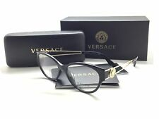 Versace Women Black Cats Eye New Eyeglasses MOD 3254 A GB1 54 Plastic