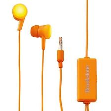 NEW Brookstone Flash Bud Earbuds LED Lights Parties Raves Blinking Orange