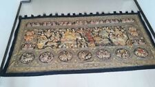 """AntiqueThai elephantand zodiac beautiful tapestery big size 140""""x72""""excellent"""