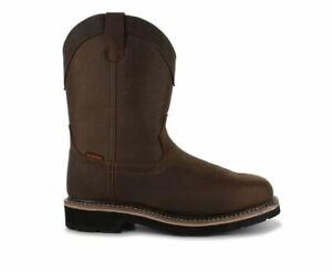 Buffalino Men's Tuscon Wellington Steel ToeWork Safety Western Boot 17104ST