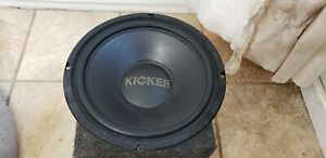 Kicker gold logo 10 inch rare sub excellent condition old school USA made