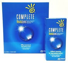 Complete RevitaLens 3x240ml 3 Month Supply Soft Contact Lens Solution +FREE 60ML