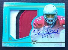 🏈 #/25 David Johnso 2015 Topps Definitive Collection Green Auto Patch RC #DC-35
