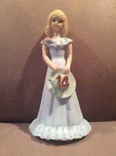 New ListingVintage Enesco Growing Up Birthday Girl Porcelain Figurine Blonde 1981 Age 14