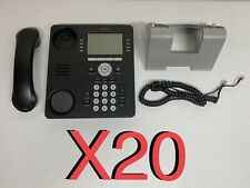 Huge Lot Of 20 Avaya 9608 Phones With Stand And Headset Cleaned Tested Amp Reset