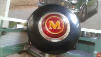 CLASSIC MINI COOPER S UNUSED RARE BMC MORRIS STEERING WHEEL HORN PUSH MK1 WORKS