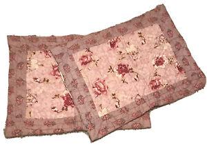 "Pamela Kline Traditions Charlotte Pink Floral Quilted 27"" Standard Pillow Shams"