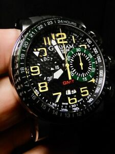 Graham Silverstone Stowe Green/ Yellow Chapman Limited 100% NIB Flyback GMT