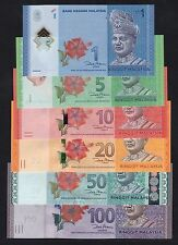 Malaysia set 1,5,10,20,50 & 100 Ringgit (2012) P51 to P56 COMPLETE SET UNC