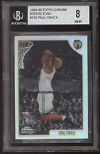 1998-99 Topps Chrome #135 Paul Pierce Refractor RC Rookie BGS 8 NM-MT