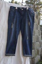 Seven7 Capri Jeans Roll Cuff Denim Size 13 EUR 31 Distressed Skinny Easy Fit NWT