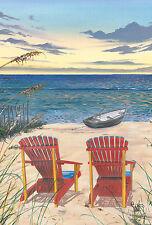 Toland Home Garden Decorative House Flag — Adirondack Paradise Beach Chairs