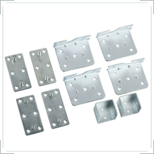 10x Heavy Duty Bed Brackets Fittings Connectors Centre Support Cubes Hook Hinge.