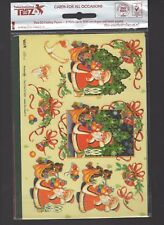 26) NEU 3D Etappenbogen Karten Bastelset 2 Motiven Umschläge OVP Weihnachtsmann