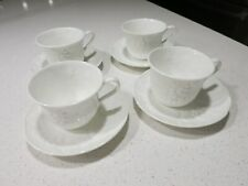 WEDGWOOD STRAWBERRY AND VINE LOT OF (4) CUPS AND SAUCERS