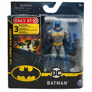 "Batman DC Caped Crusader 4"" Action Figure Target Exclusive Blue & Grey Batman"
