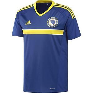 Adidas Enfants Bosnie-Herzégovine Maillot Domicile Chemise Bleu Garçons Džeko